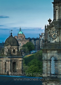 View from the Caledonian Hotel, Edinburgh