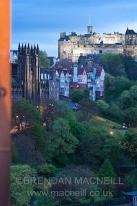 Edinburgh at dusk by Brendan MacNeill